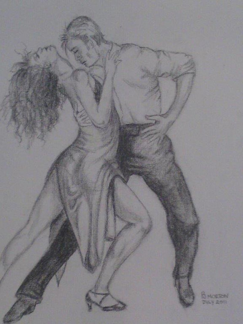 Dancers pencil sketch