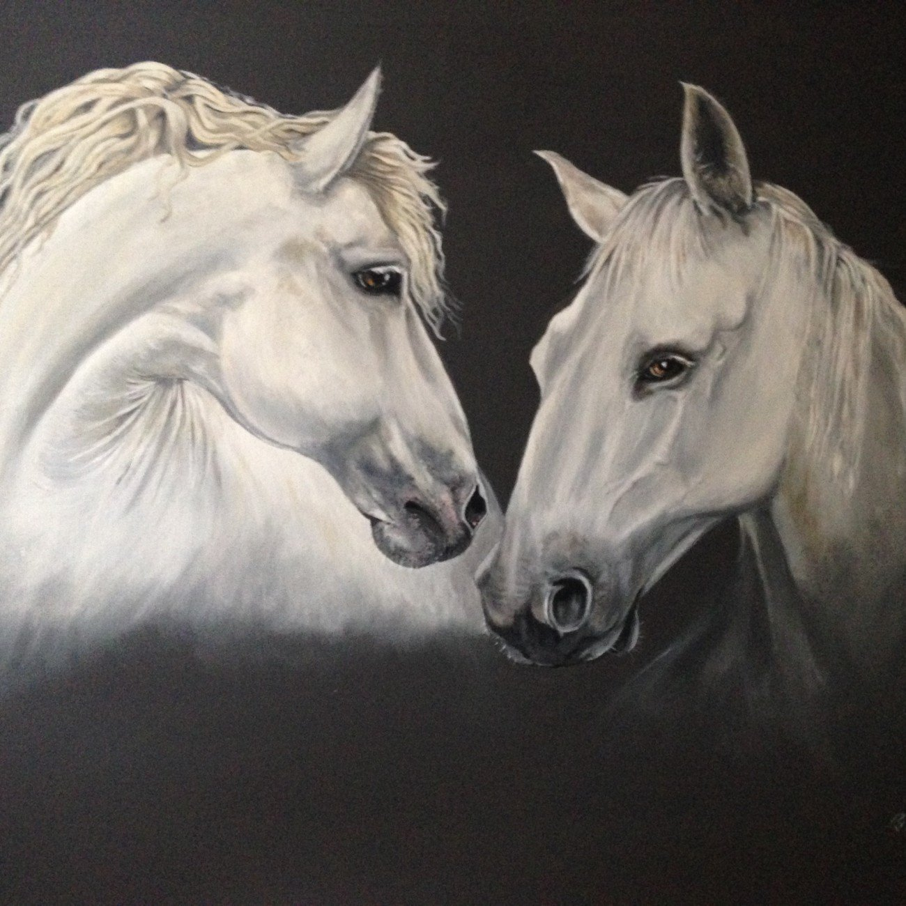 Madly Deeply Two White Horses